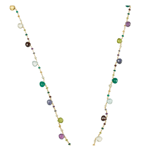 long necklace for women of colored stones
